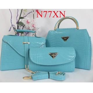 Bộ 3 túi xách nữ giá rẻ đẹp, túi xách nữ công sở, túi xách nữ thời trang, túi xách nữ giá rẻ N77