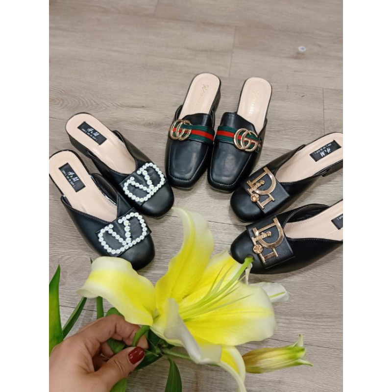 [hcm] giày sục 3cm mới về, da mềm, êm, bao sang chảnh