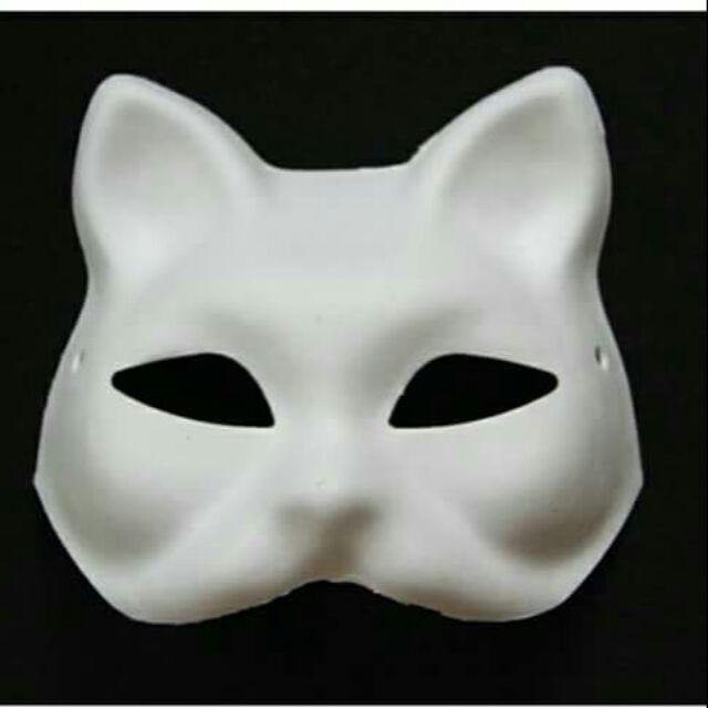 Mặt nạ cáo - mặt nạ mèo - fox mask (cả mặt, nửa mặt) shopee. vn mochi04