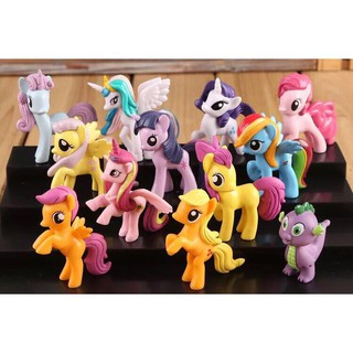 [sỉ ib] Bộ 12 Con Ngựa Pony 7cm