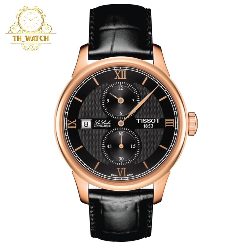 Đồng hồ Tissot 1853 Nam automatic Lelocle dây da, kính shapphire T006.428.36.058.02
