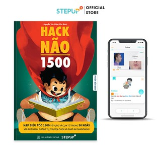 Sách - Hack Não 1500 (Phiên bản 2020) - Tặng App Hack Não Pro học phát âm miễn phí