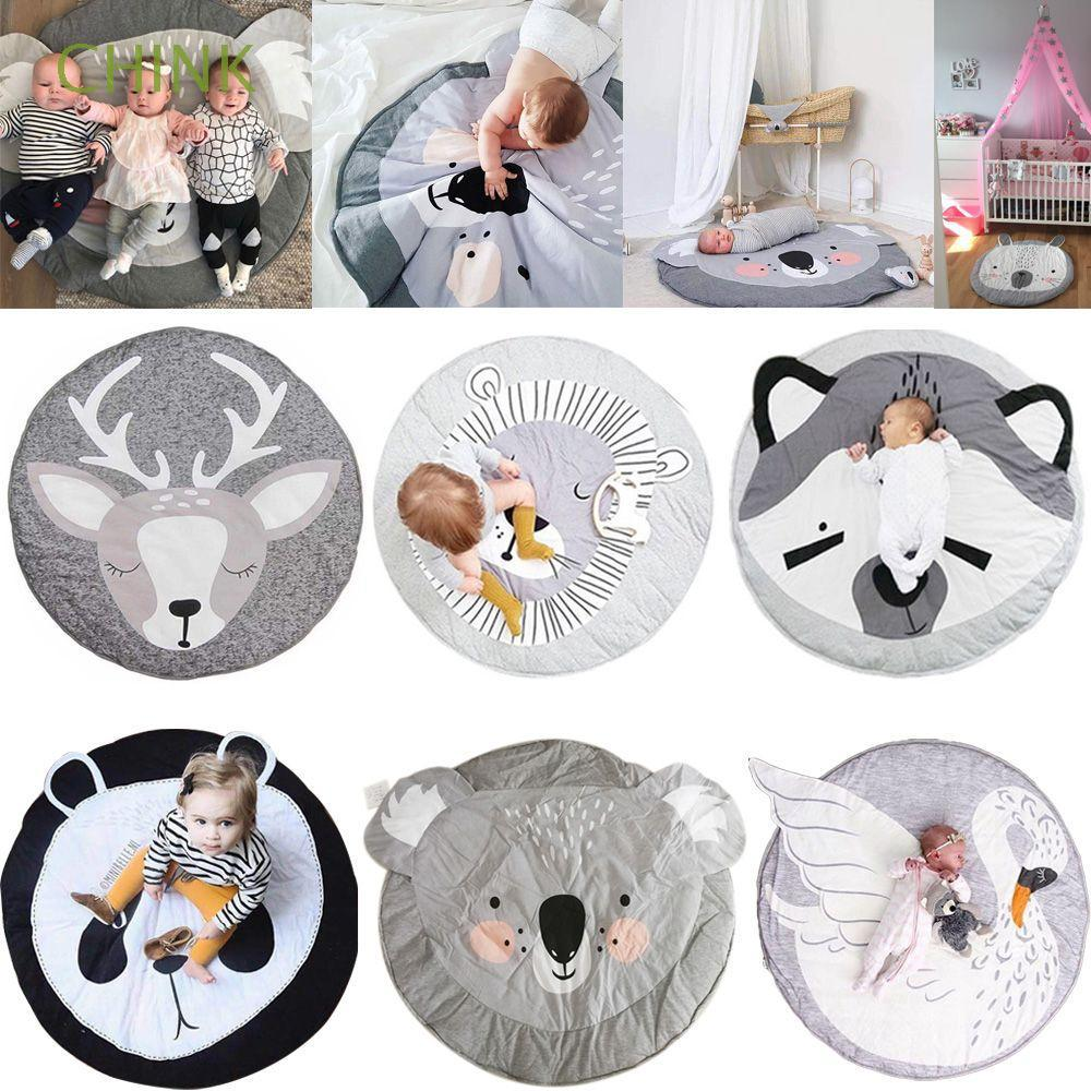 100cm Crawling Sleeping Carton Animal Round Newborn Infant Baby Play Mats