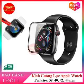 Kính cường lực đồng hồ thông minh Apple Watch Full Màn giúp bảo vệ màn hình với các size 38mm, 40mm, 42mm, 44mm