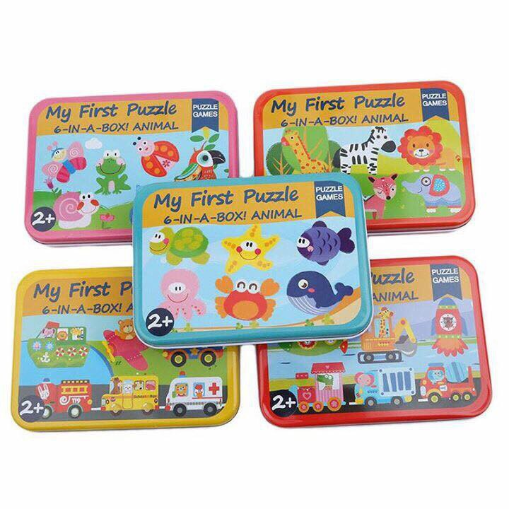 Puzzle ghép hình hộp sắt - 1 hộp 6 hình - 2698456 , 1093524626 , 322_1093524626 , 80000 , Puzzle-ghep-hinh-hop-sat-1-hop-6-hinh-322_1093524626 , shopee.vn , Puzzle ghép hình hộp sắt - 1 hộp 6 hình