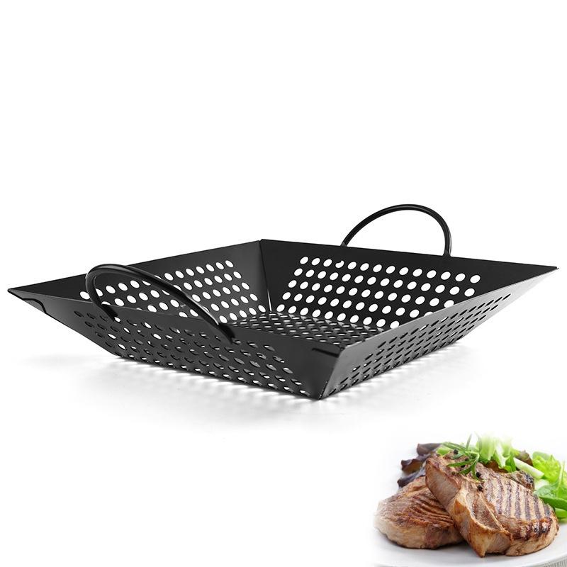 ✆Khay nướng BBQ xịt chống dính khay nướng vuông chống dính Khay nướng đa năng dụng cụ nướng ngoài trời