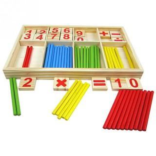 Bộ que tính và chữ số cho bé học toán – Gỗ an toàn