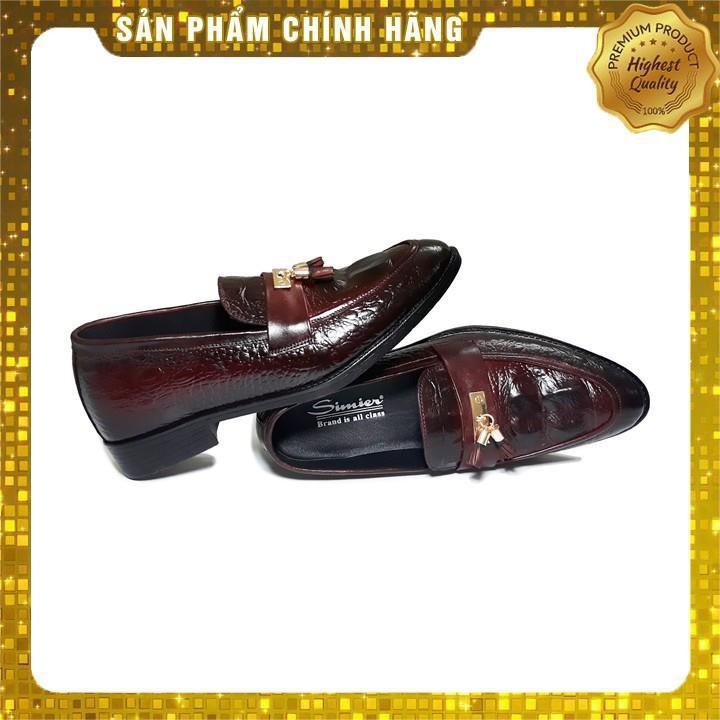 [Hàng Auth] Giày Tây Nam Da Bò Thật Vân Cá Sấu Tăng Chiều Cao 5 Cm simier- SM29 .[ HOT ] 2020 ↩