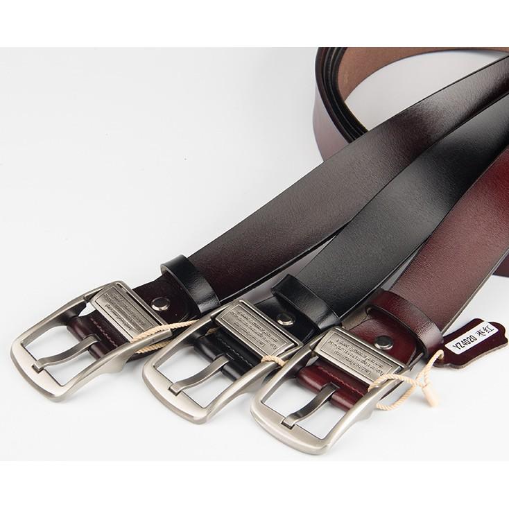 Combo 2 dây nịch nam khóa kim loại, mặt khóa 2 chiều, dây thắt lưng, thắt lưng nam