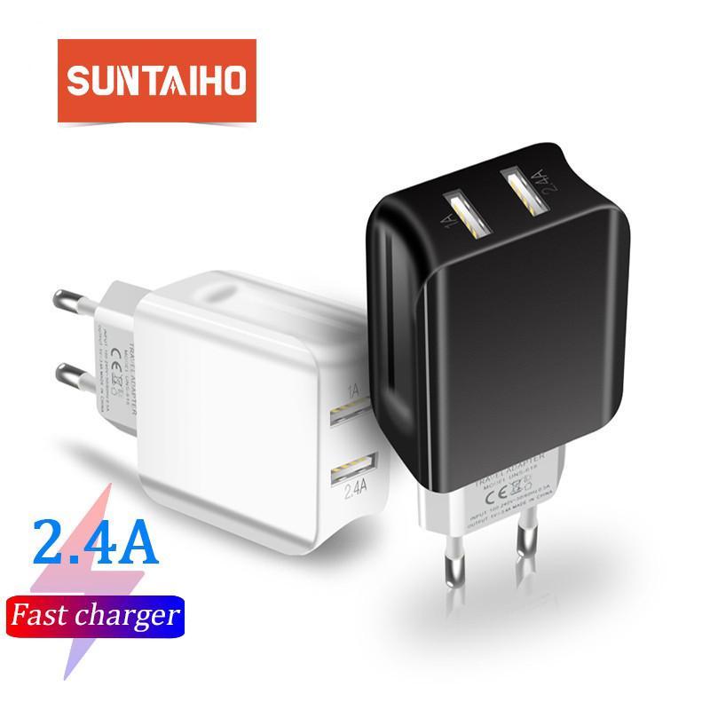 Cốc Sạc Du Lịch Suntaiho CD104 2 Cổng USB Thông Minh