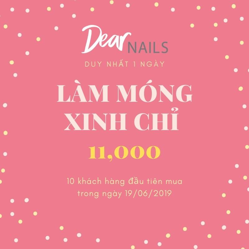 HCM [E-Voucher] - HOT Làm Nail chỉ 11k tại Dear Nails