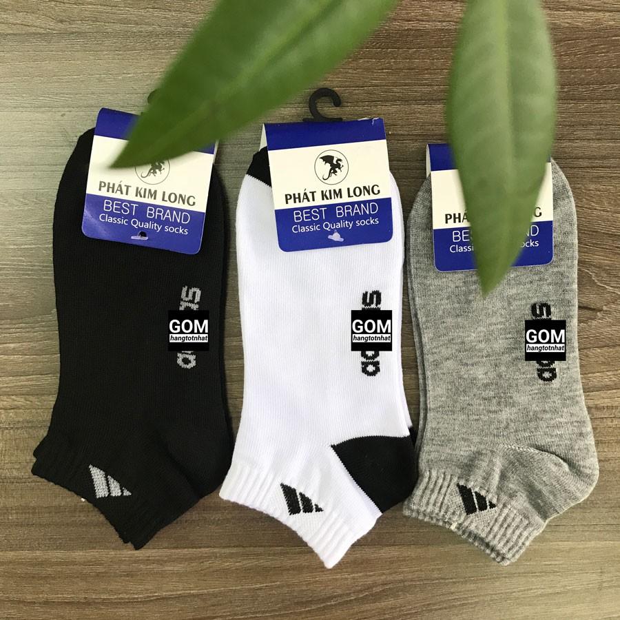 Tất CỔ NGẮN Adi.dass hàng VNXK, vải dày vừa, chất liệu cotton thoáng mát khử mùi