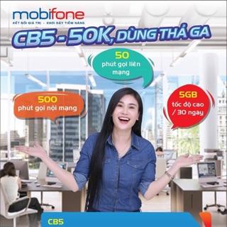 Sim mobifone kèm gói cước CB5