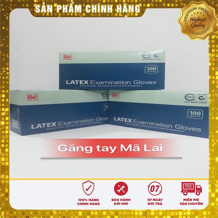 Găng Tay Y Tế Cao Su LATEX Mã Lai 1 Hộp 50 Đôi