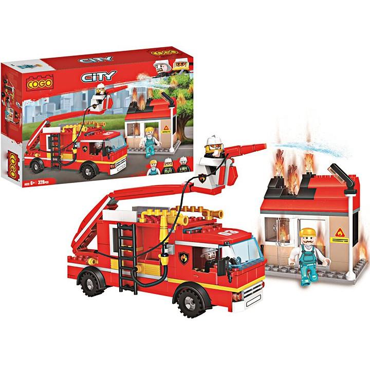W084546 – 328PCS – Đồ chơi Lego xếp hình đội cứu hỏa 4174