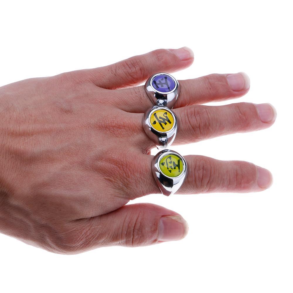 Nhẫn đeo tay hóa trang nhân vật hoạt hình akatsuki member Ninja bằng kim loại