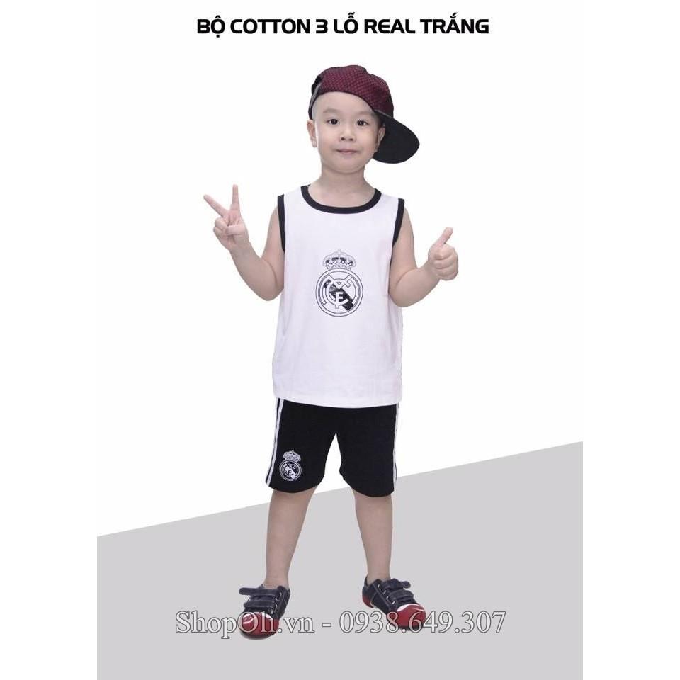Đồ trẻ em thể thao ba lỗ cotton 100% Real trắng - 10076689 , 345886052 , 322_345886052 , 120000 , Do-tre-em-the-thao-ba-lo-cotton-100Phan-Tram-Real-trang-322_345886052 , shopee.vn , Đồ trẻ em thể thao ba lỗ cotton 100% Real trắng