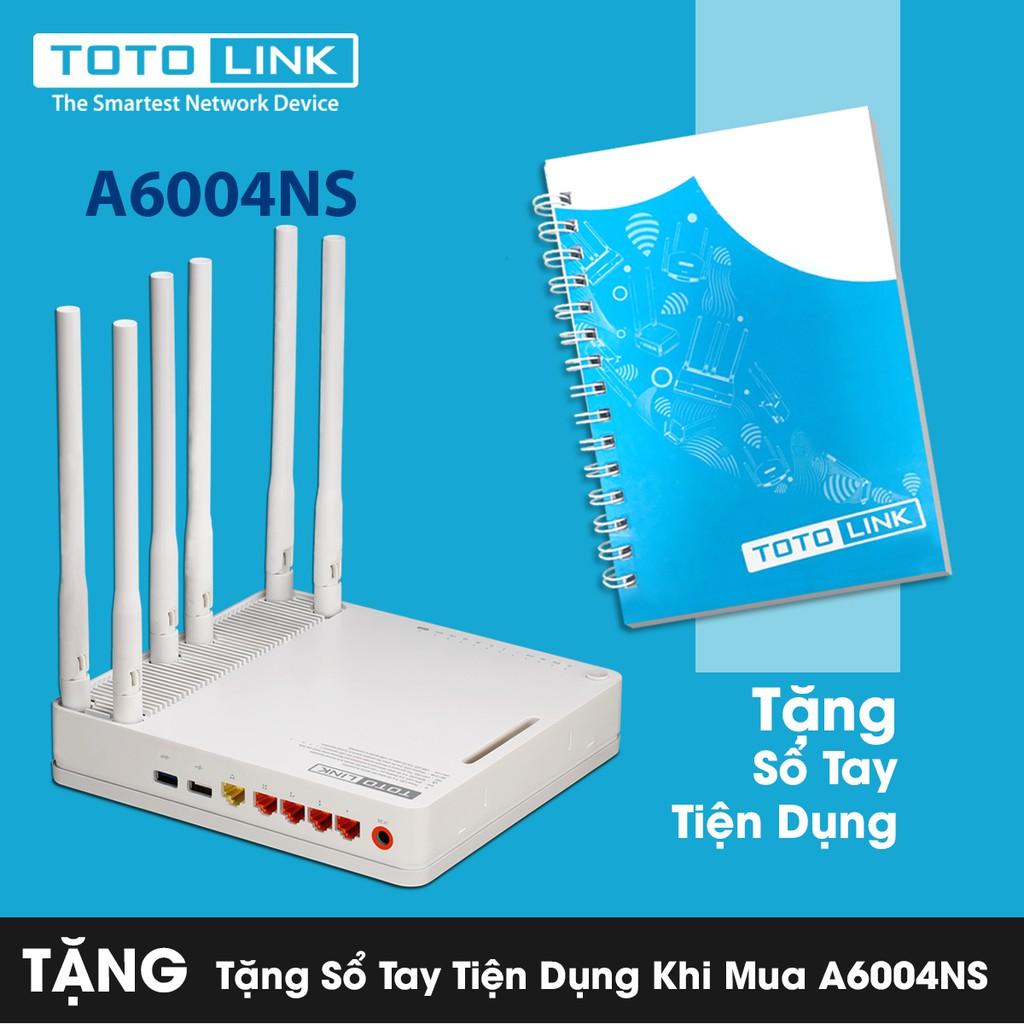 [FREE SHIP] Bộ phát WiFi băng tần kép Gigabit AC1900 TOTOLINK A6004NS Tặng sổ tay tiện lợi - 3146537 , 285690468 , 322_285690468 , 3199000 , FREE-SHIP-Bo-phat-WiFi-bang-tan-kep-Gigabit-AC1900-TOTOLINK-A6004NS-Tang-so-tay-tien-loi-322_285690468 , shopee.vn , [FREE SHIP] Bộ phát WiFi băng tần kép Gigabit AC1900 TOTOLINK A6004NS Tặng sổ tay tiệ