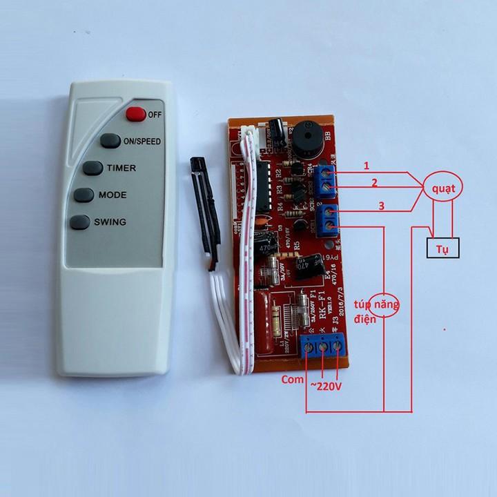 Bộ mạch điều khiển quạt từ xa (Điều khiển chữ tiếng Anh) – mạch điều khiển quạt