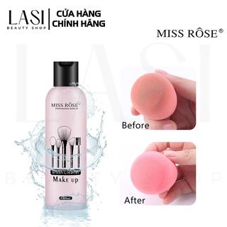 Nước rửa cọ trang điểm Miss Rose Makeup Brush Cleaner 180ml - Làm sạch mọi cặn bẩn, kem nền, phấn dư bám dính lâu ngày thumbnail