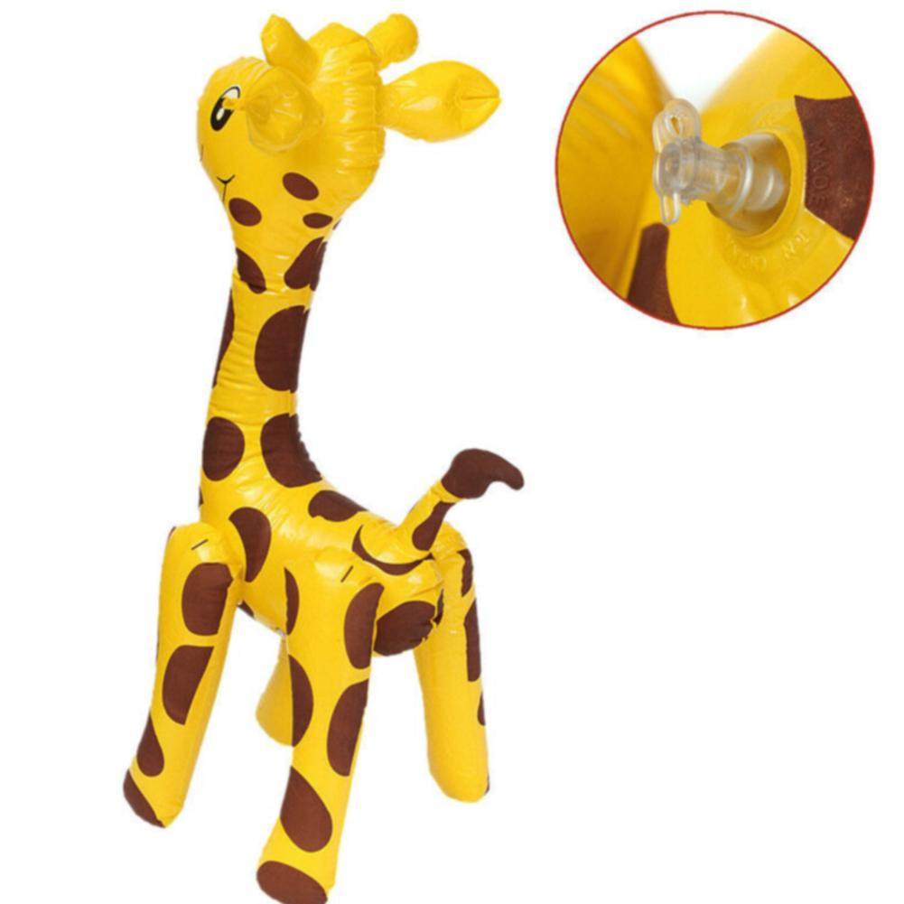 Cartoon Party Animals Cute Novelty Children Large PVC Giraffe Design Inflatable Toy