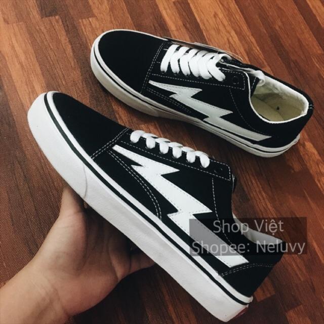 Giày thể thao Vans Tia Sét VNXK màu đen size 36-39