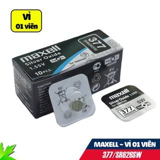 Pin đồng hồ SR626SW/377 MAXELL Silver Oxide 1.55V Vỉ 1 viên