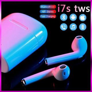 Tai nghe nhét tai không dây Bluetooth I7s thiết kế nhỏ gọn, xách tay, âm thanh cực chất thumbnail