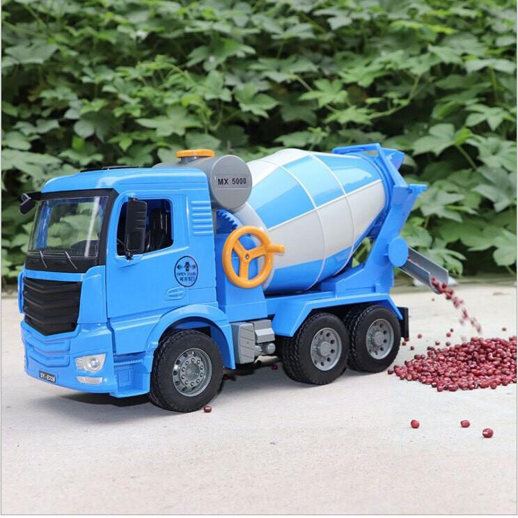 Mô hình xe trộn Bê tông xe công trình loại to tỉ lệ 1:20
