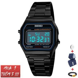 Đồng hồ nam nữ Skmei 1123 dây thép đồng hồ điện tử Bán lẻ giá sỉ