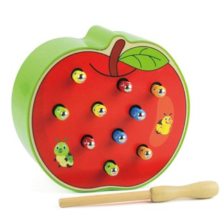 👑3D Cognitive Education Toys Color Wood Toys Magnetic Caterpillar