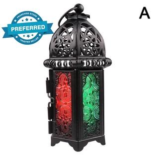 Giá đỡ đèn cầy bằng thủy tinh và sắt phong cách Châu Âu cổ điển trang trí nhà cửa/ tiệc cưới W1E5