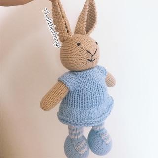Thỏ bông len handmade. Quà tặng đồ chơi cho bé