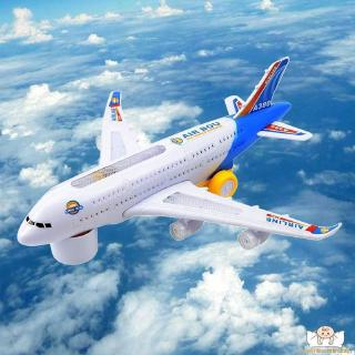 ⛄TT-Light music General Airbus A380 airplane model flash sound electric airplane children