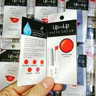 Son lip on lip water color màu cam đào (mẫu thử sample) thumbnail