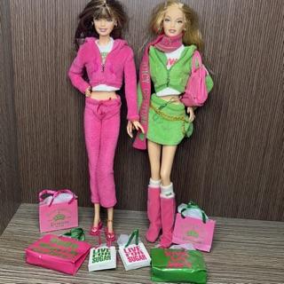 Set 2 Búp bê barbie Juicy Couture