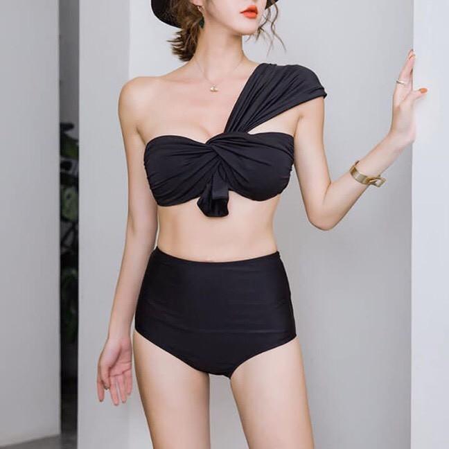 Bikini xoắn ngực choàng vai quần nhún( nhiều màu)