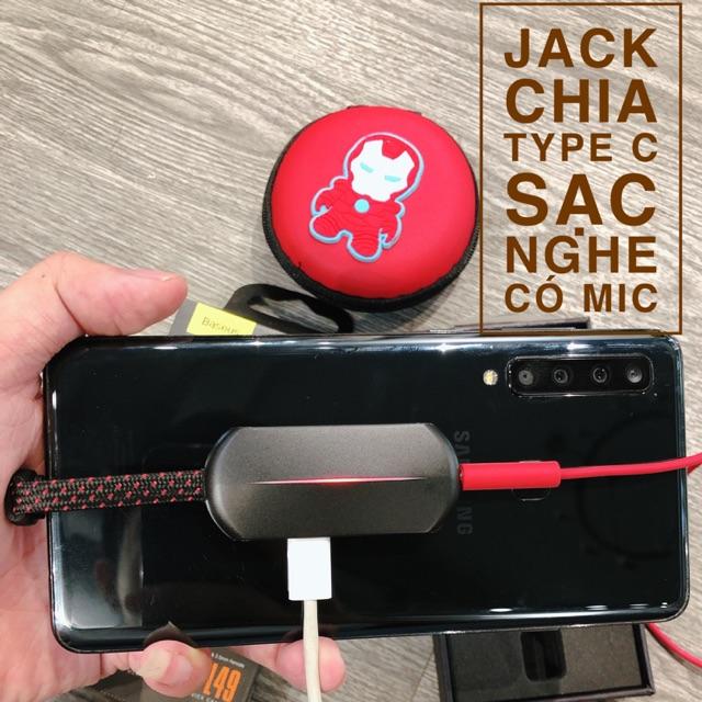 Jack Type C Chia Sạc Nghe Cổng 3.5mm Mic được khi chơi PUBG Mobile