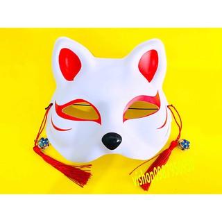 Mặt nạ cáo vẽ mèo cosplay chất lượng – mặt nạ nửa mặt mã EYV9 AGD0280