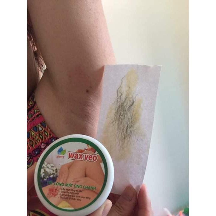 ( CHÍNH HÃNG ) WAX TẨY LÔNG VEO + TẶNG kèm giấy chuyên dụng và que gạt, tẩy lông sạch sẽ tận chân lông