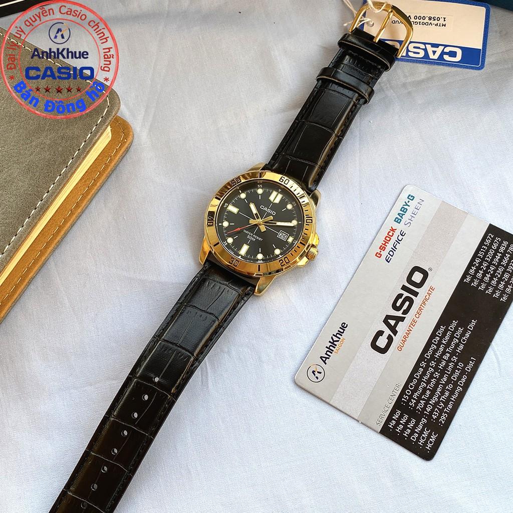 Đồng hồ nam Casio MTP-VD01 MTP-VD01L MTP-VD01GL bảo hành 1 năm chính hãng Anh Khuê d