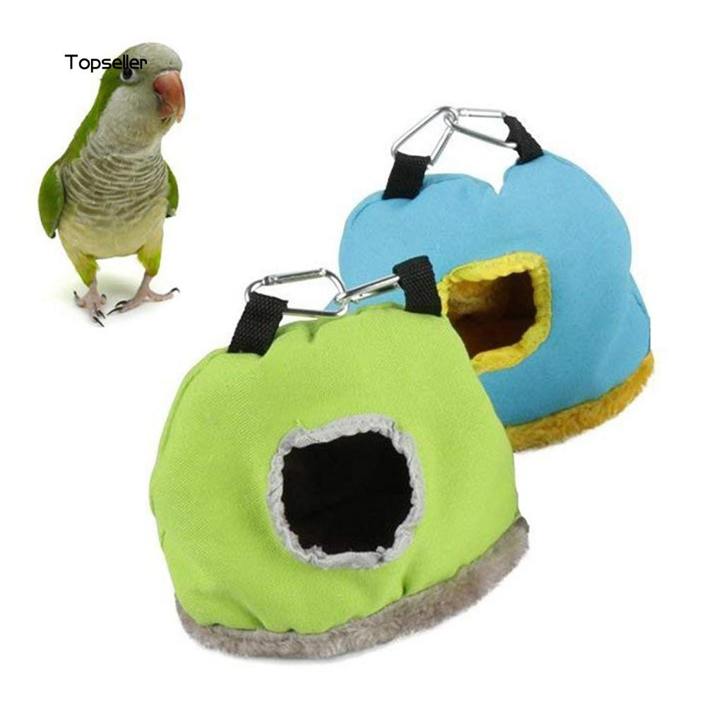 TOP✺Bird Parrot Plush Warm House Hanging Nest Bed Hammock Cave Cage Pet Supplies