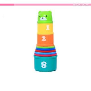 Tháp cầu vồng nhiều màu chữ và số cho bé