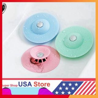 (9169) Chặn Rác Bồn Rửa Bát - Bồn Rửa Mặt - Bật Mở Thông Minh - Ngăn Mùi Bồn Tắm - Nắp Cống giá tốt . thumbnail