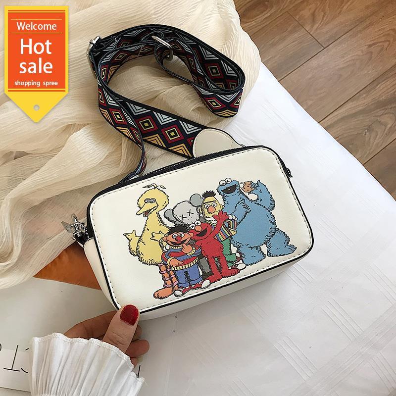 Túi xách hình chữ nhật in hình Sesame Street thời trang cho nữ
