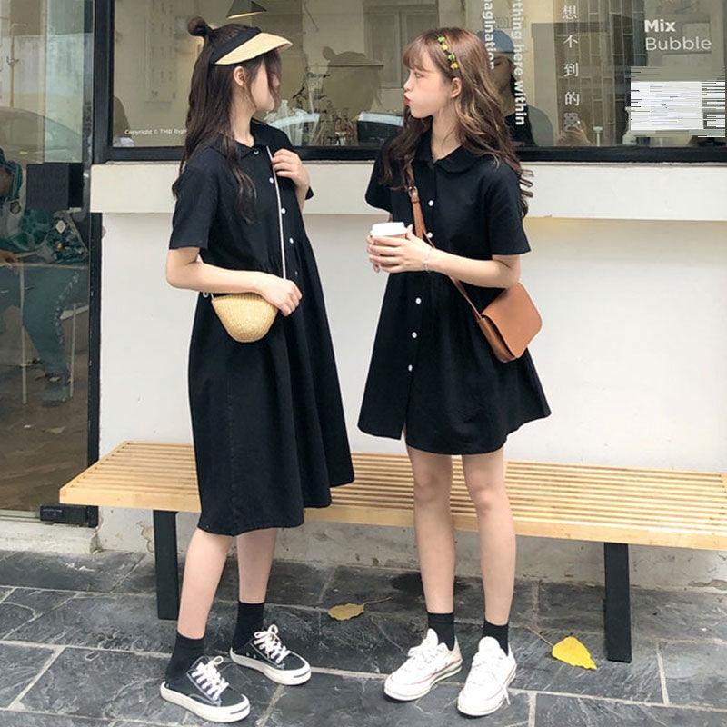 Đầm Chữ A Ngắn Tay Phong Cách Retro Hàn Quốc Nữ Tính