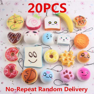 20pcs Small Squishy Foods Doughnuts Pendant Phone – Random Delivery lifestar