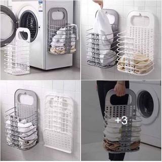 Giỏ treo quần áo treo đồ đa năng gấp gọn tiện lợi thông minh mẫu mới DH0580 thumbnail