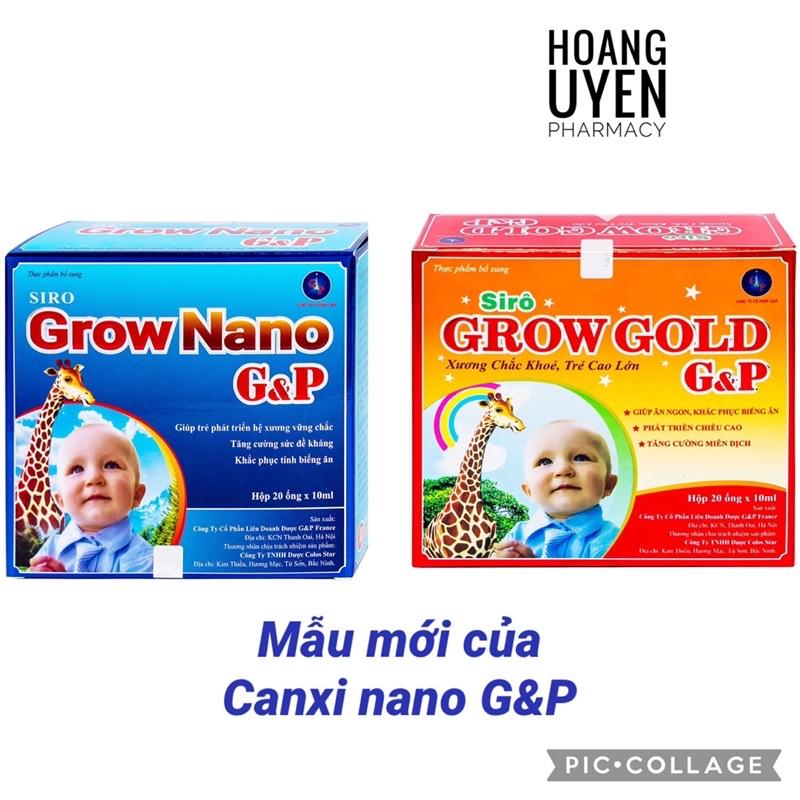 Canxi Grow Nano G&P Hộp 20 ống (Mẫu mới Canxi Nano gold G&P)