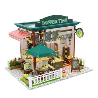 Mô hình Time Coffee House-DIY( tặng kèm mica,keo)